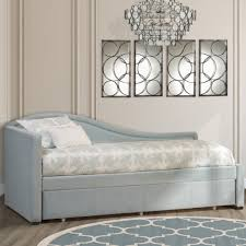 lubi turquoise sleeper daybed dhp sophia upholstered trundle
