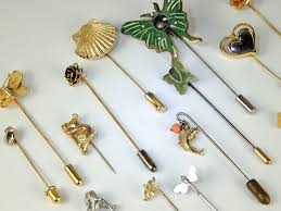 lot vintage 2now hat pins stick pin brooch jewelry fashion