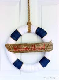 nautical decor how to make this navy and white wreath anchor