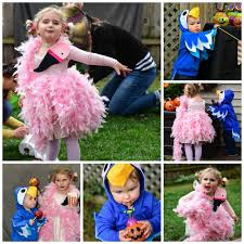 feathered friends easy diy flamingo and parrot halloween
