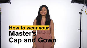 master s cap and gown asu grad how to wear your master s cap and gown