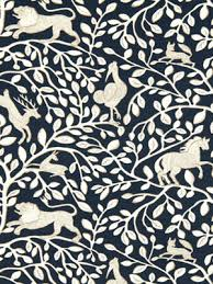 Blue Home Decor Fabric A Contemporary Upholstery Fabric In An Abstract Animal Print Of