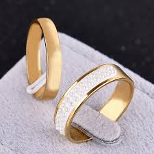 plus size engagement rings 2pcs set plus size wedding rings for and gold color