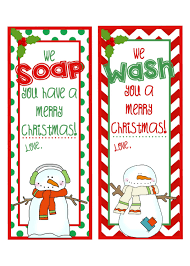 printable soap gift tags we wash you merry