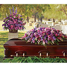casket spray lavender tribute casket spray sympathy arrangement teleflora