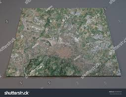 Satellite View Map Map Bologna Italy Satellite View Map Stock Illustration 307083578