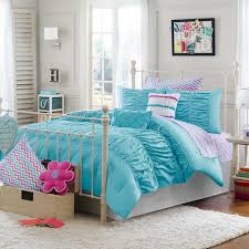 aqua ruffle comforter julissa full queen 3 piece comforter set in aqua belle s purple