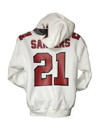 atlanta falcons 21 deion sanders primetime white jersey hoody