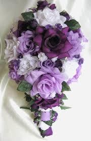 wedding flowers lavender wedding bouquet bridal silk flowers cascade plum by rosesanddreams