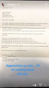 I Am The Flag Detroit Lions Player Shares Mail He Received From Fans About