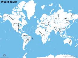 worlds rivers map rivers of world map timekeeperwatches