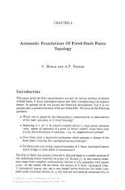 axiomatic foundations of fixed basis fuzzy topology springer