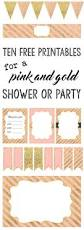 pink and gold free printables free printables bridal showers