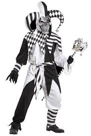 Jester Halloween Costume U0027s Fool Black U0026 White Jester Halloween Costume