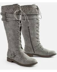 womens boots size 9 5 amazing deal justfab flat boots delphinia flat boot womens gray