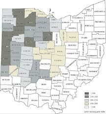Map Ohio Counties by Determining Location Of Cellulosic Ethanol Plants In Ohio Based On