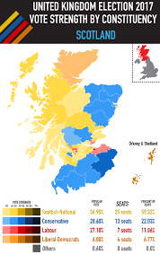 Uk Election Map by Results Of The United Kingdom Election 2017 Scotland Maps