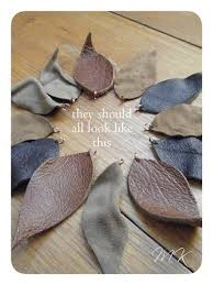 leather leaf necklace images Make leather leaf necklace from leather scraps in 20 minutes diy jpg