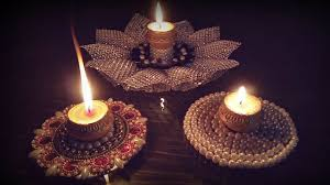 make diya holder with cd diwali decoration ideas at home