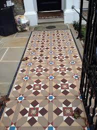 victorian edwardian mosaic tile path london edwardian home style