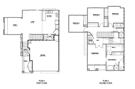 Single Storey Floor Plans by 4 Bedroom House Plans 2 Story