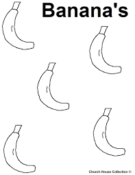 banana tree coloring pages free minions colouring banana