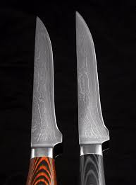 sharp kitchen knives custom forged knives texan blades damascus boning knife inch