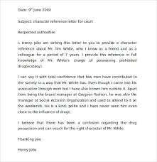 Character Reference Letter For Court Speeding sle character reference letter for court 6 documents in pdf word