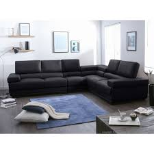 canape cuir angle but salon avec canape noir