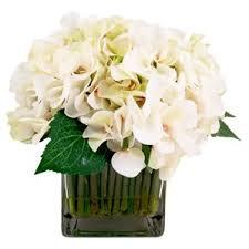 White Hydrangea Centerpiece by Hydrangea Flower Arrangements You U0027ll Love Wayfair