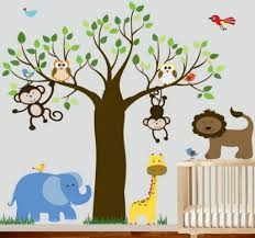 cute jungle wall art for kids rooms ideas designs cool jungle kids bedroom funny picture paint the walls