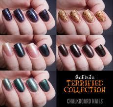 soflajo terrified collection chalkboard nails nail art blog
