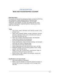 housekeeping responsibilities hospital housekeeper job
