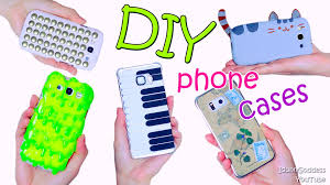 Diy by 5 Diy Phone Case Designs U2013 How To Make Slime Pusheen Piano Map