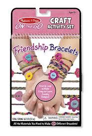 bracelet craft hand images Melissa doug on the go friendship bracelet craft set jpg