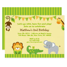 Jungle Birthday Card Jungle Theme Birthday Cards Greeting Photo Cards Zazzle