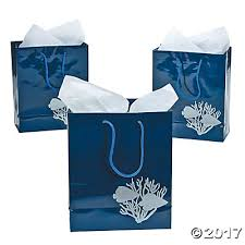 blue gift bags the sea medium gift bags