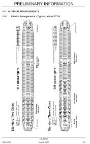 Boeing 777 300er Seat Map Boeing Details Interior Arrangement Of The 777 9 The Boeing