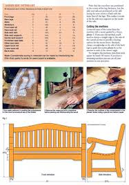 Outdoor Garden Bench Plans by Garden Bench Plans U2022 Woodarchivist