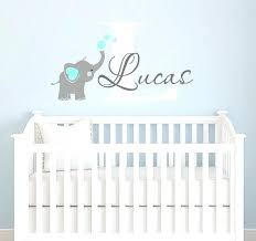 Boys Nursery Wall Decals Baby Boy Nursery Decor Ideas Amazing Removable Adhesive Elephant