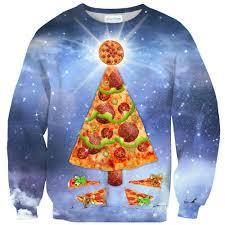 pizza tree sweater shelfies
