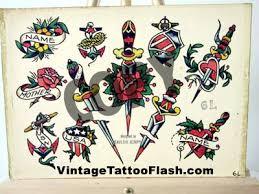 vintage tattoo flash sailor jerry tattoo flash copies for sale