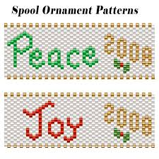 free beading pattern peace and spool ornament covers bead