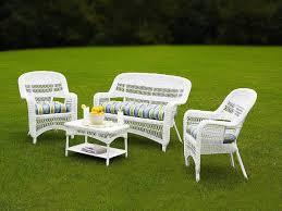 white wicker patio furniture sets l i h 147 wicker patio
