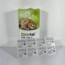 Obat Cacing Kucing Di Petshop jual obat cacing kucing drontal per tablet juaro