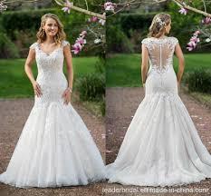 china mermaid wedding gown cap sleeves lace mermaid bridal wedding