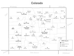 Map Of Colorado Cities by Colorado Airport Map Colorado U2022 Mappery