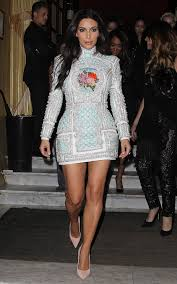 kim kardashian wedding weekend white beaded balmain dress on a