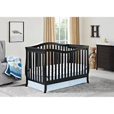 Gray Convertible Cribs by Dorel Emery 2 In 1 Convertible Crib Black