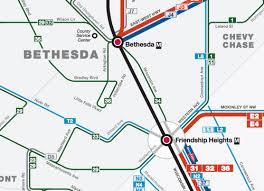 washington dc metrobus map a metrobus gap on wisconsin avenue makes georgetown and bethesda